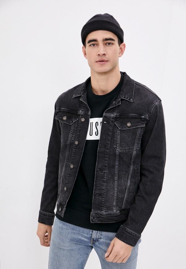 мужская джинсовые куртка mustang, черная