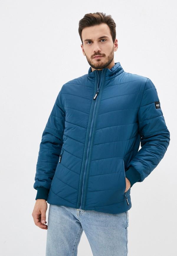 мужская куртка mustang, синяя