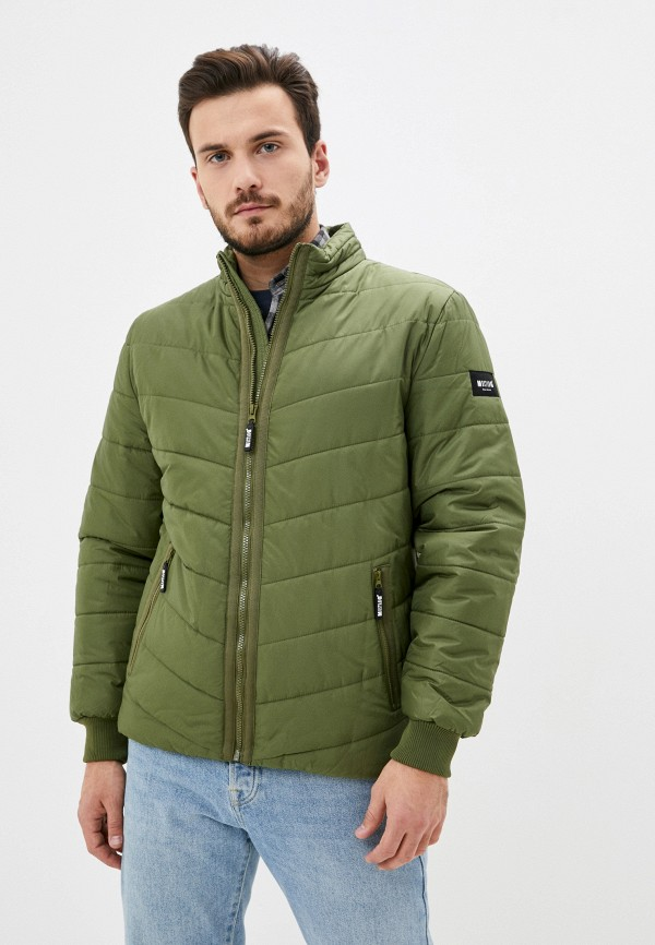 мужская куртка mustang, зеленая