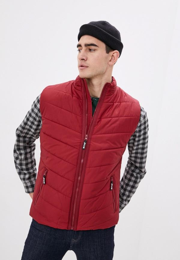 мужской жилет mustang, бордовый