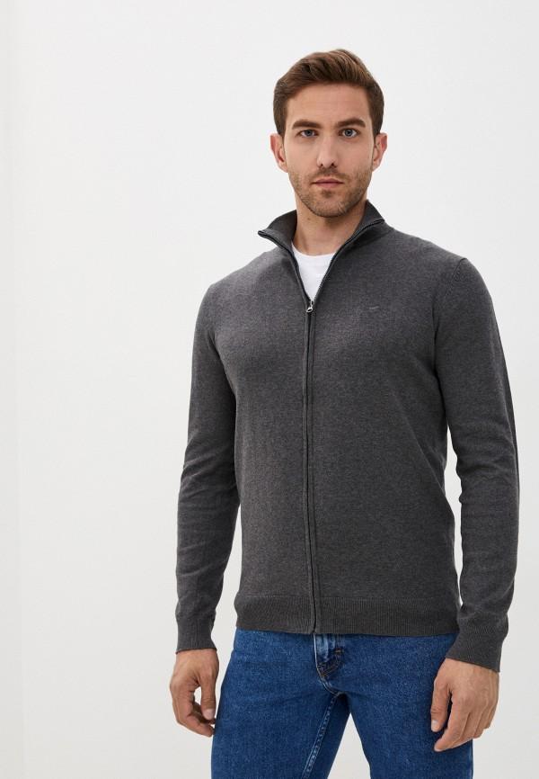 мужской кардиган mustang, серый
