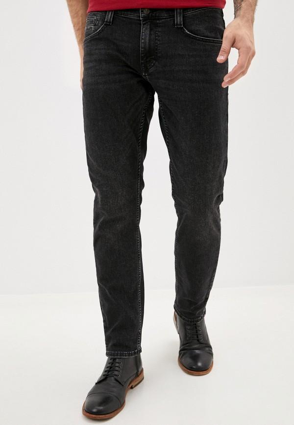 мужские зауженные джинсы mustang, черные