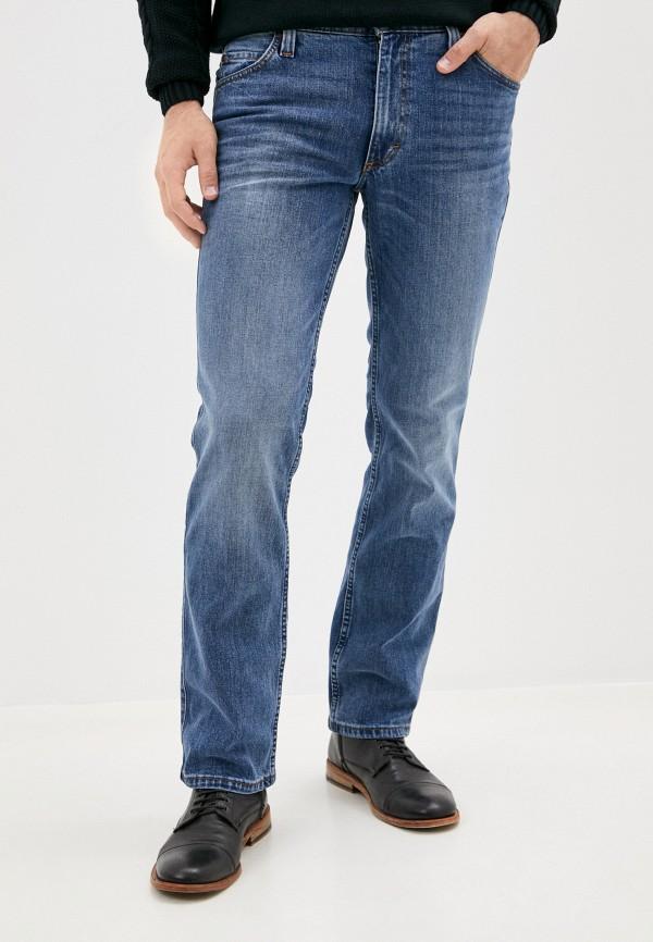 мужские прямые джинсы mustang, голубые