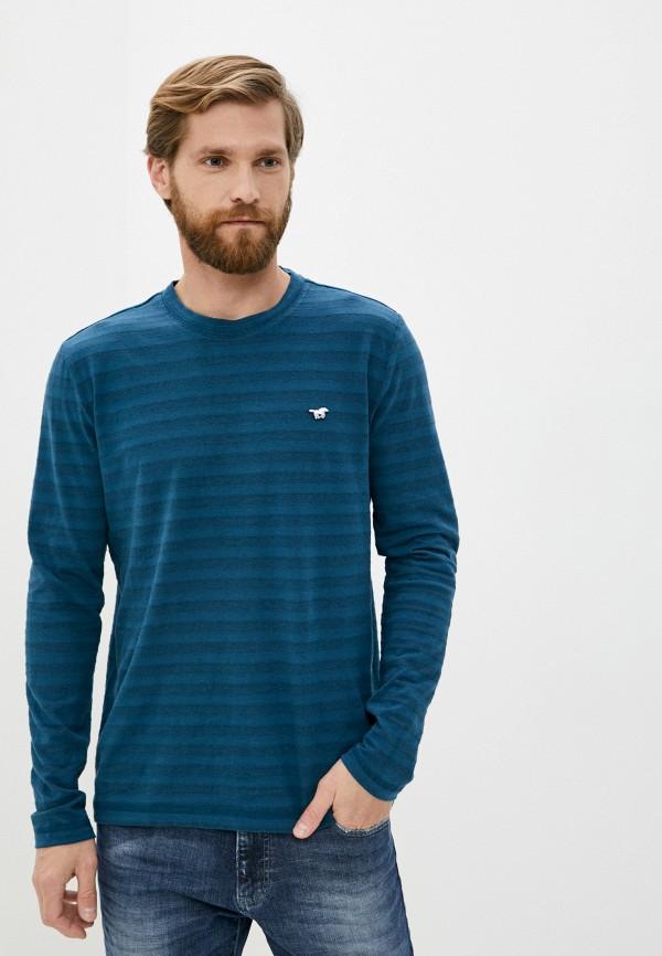 мужской лонгслив mustang, синий