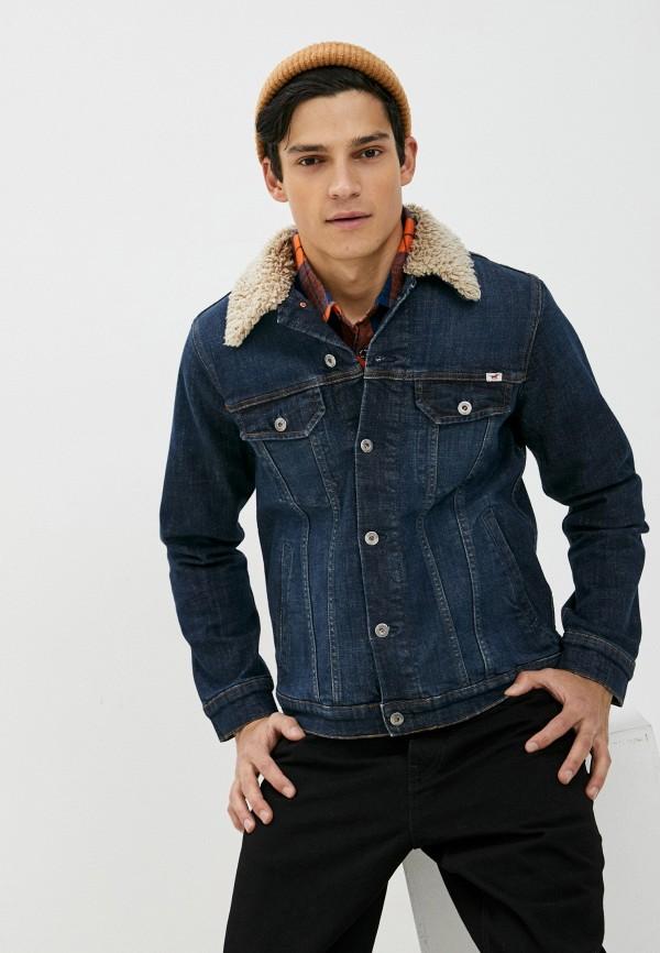 мужская джинсовые куртка mustang, синяя
