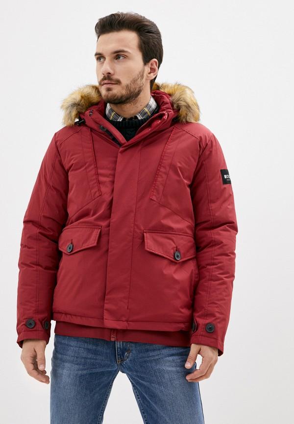 мужская куртка mustang, красная