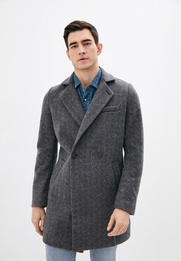 мужское пальто mustang, серое