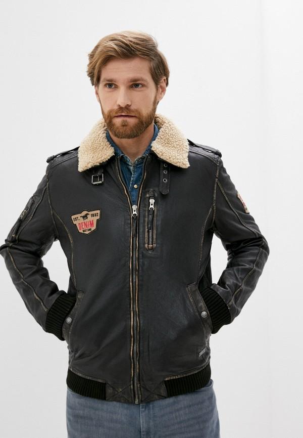 мужская куртка mustang, коричневая