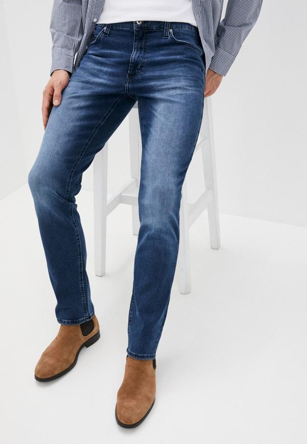 мужские зауженные джинсы mustang, синие