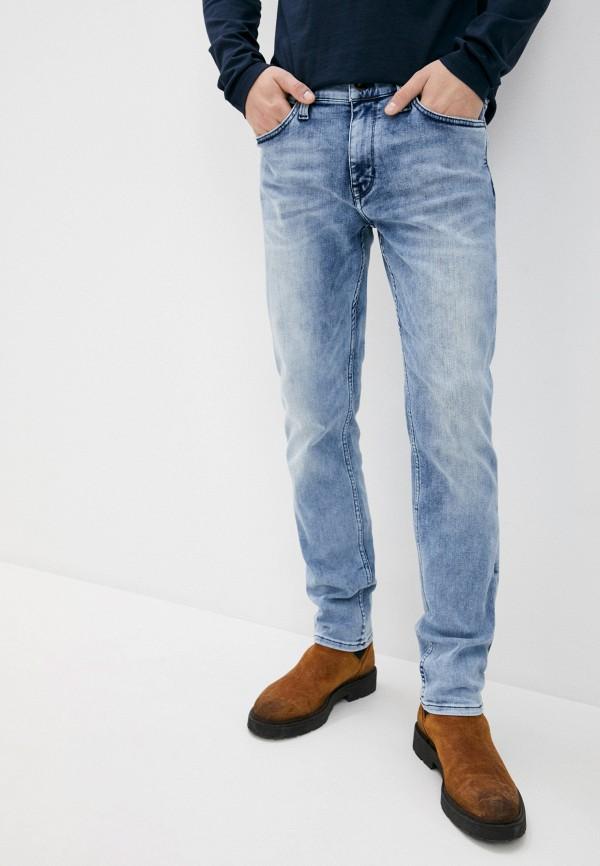 мужские зауженные джинсы mustang, голубые