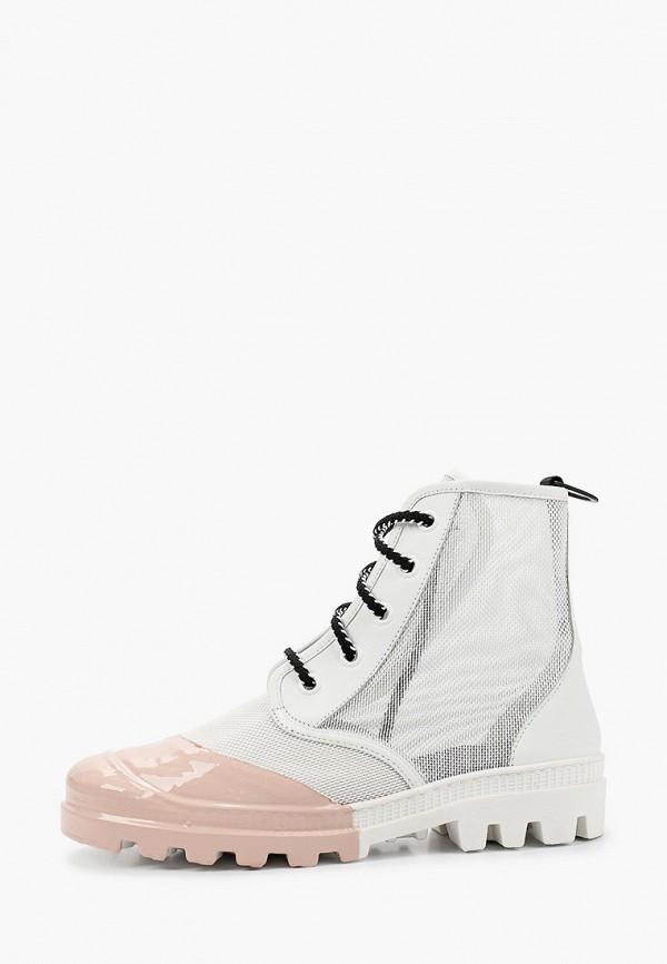 женские ботинки my grey, белые