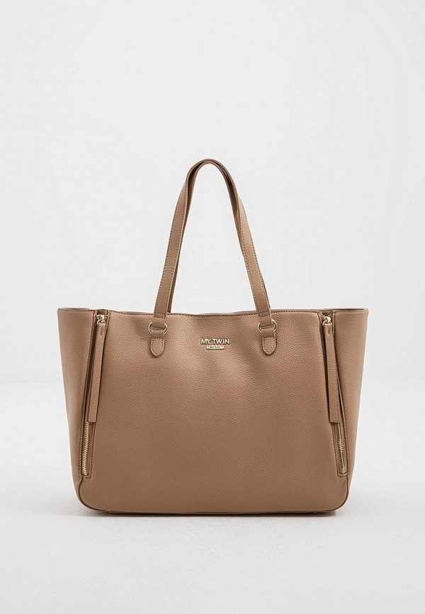 женская сумка twinset milano, бежевая
