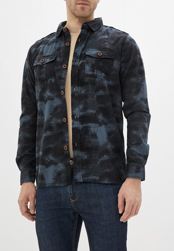 мужская рубашка с длинным рукавом mz72, черная