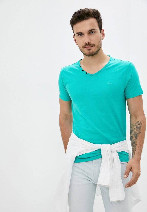 мужская футболка с коротким рукавом mz72, бирюзовая