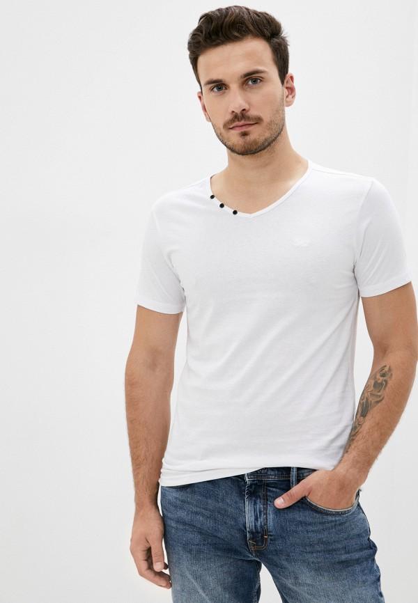 мужская футболка с коротким рукавом mz72, белая