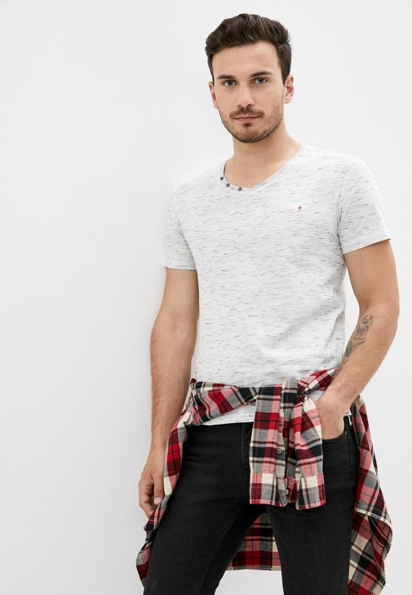 мужская футболка с коротким рукавом mz72, серая