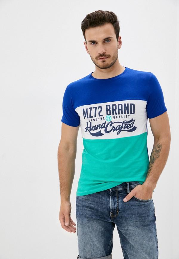 мужская футболка с коротким рукавом mz72, синяя