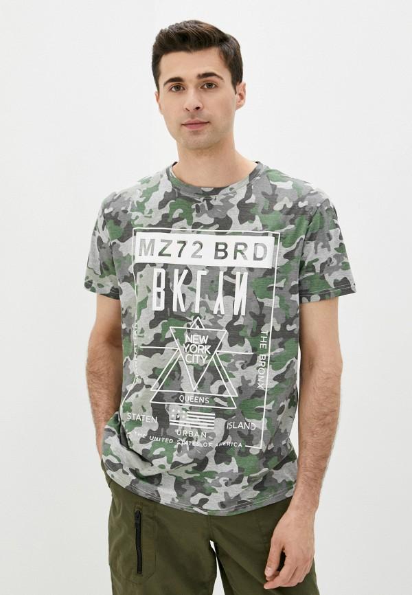 мужская футболка с коротким рукавом mz72, разноцветная