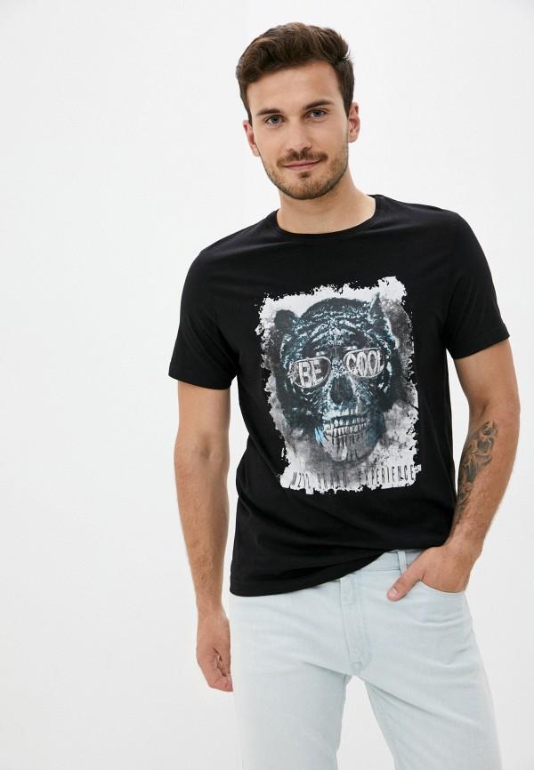 мужская футболка с коротким рукавом mz72, черная