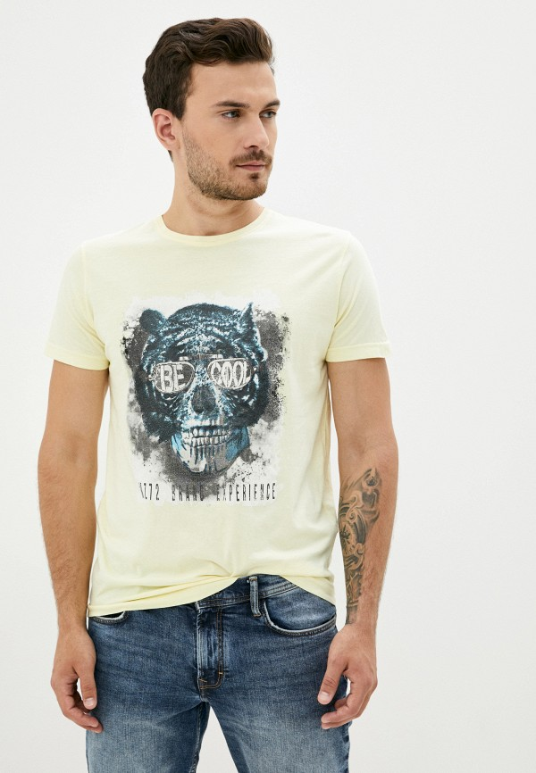 мужская футболка с коротким рукавом mz72, желтая