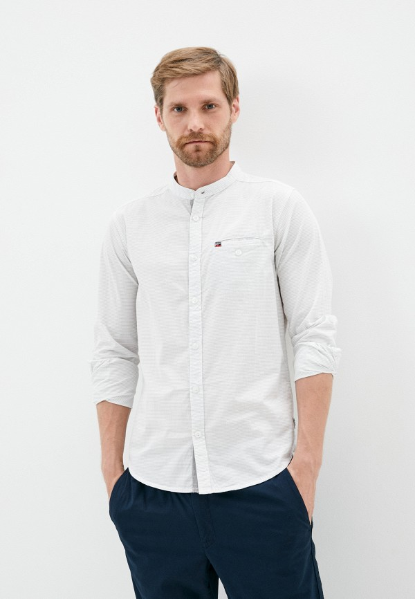 мужская рубашка с длинным рукавом mz72, белая