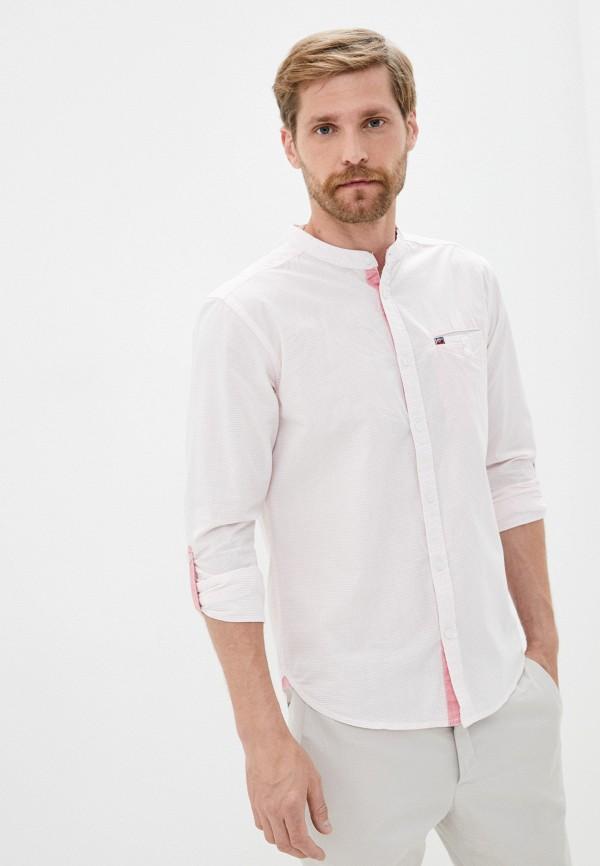 мужская рубашка с длинным рукавом mz72, розовая