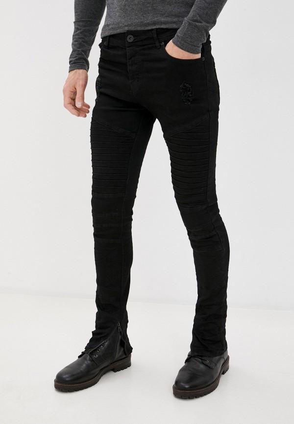 мужские зауженные джинсы mz72, черные