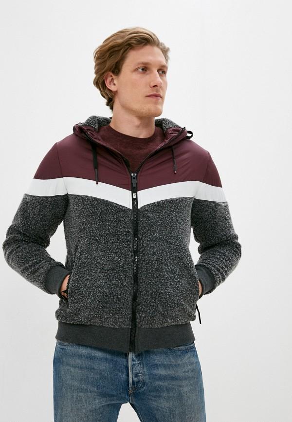 мужская куртка mz72, бордовая