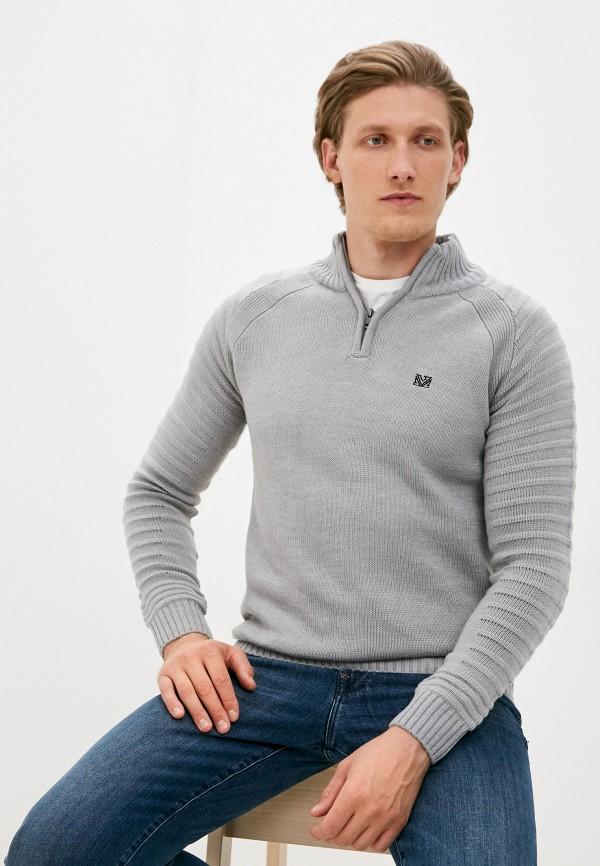 мужской свитер mz72, серый