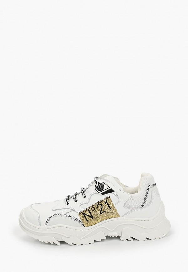 кроссовки n21 для девочки, белые