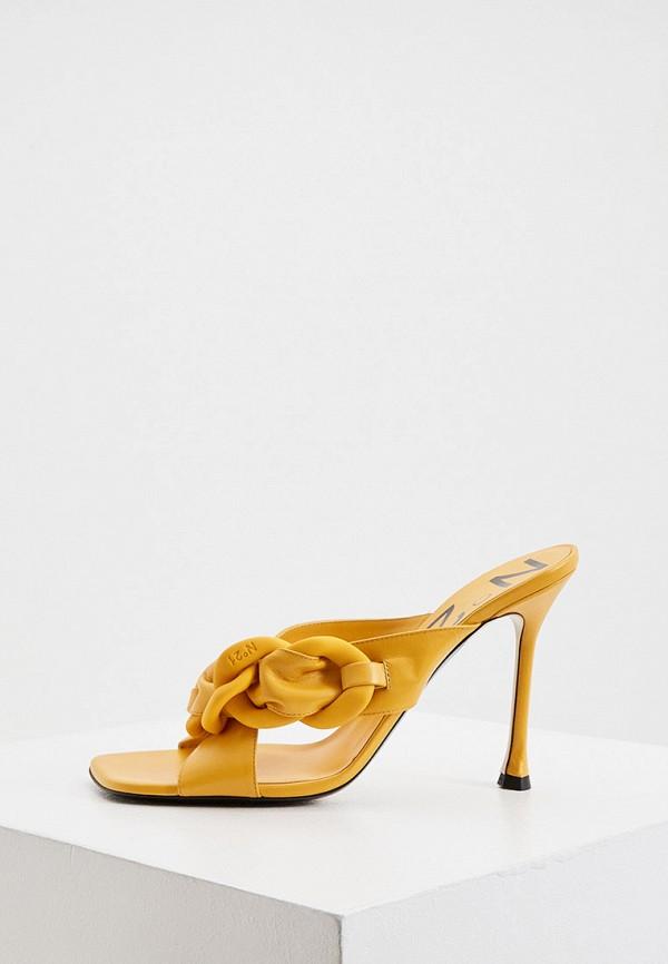 женское сабо n21, желтое