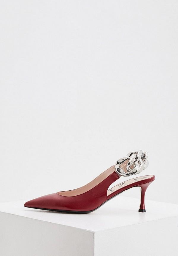 женские туфли n21, красные