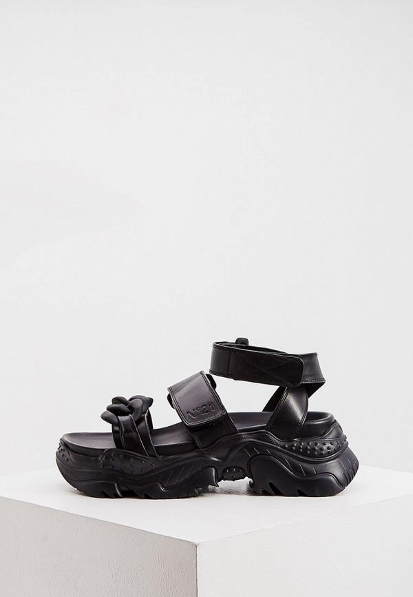 женские сандалии n21, черные