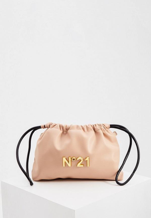 женская сумка через плечо n21, бежевая