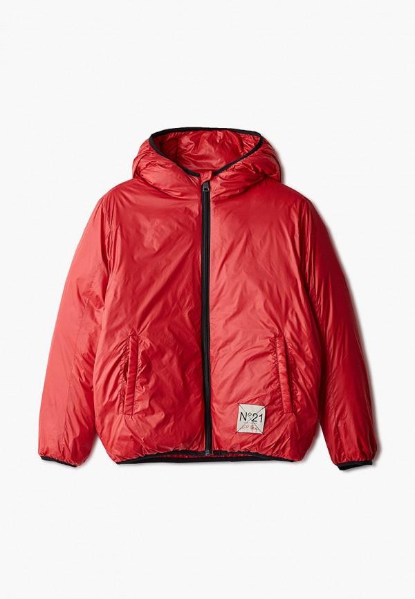 куртка n21 для мальчика, красная