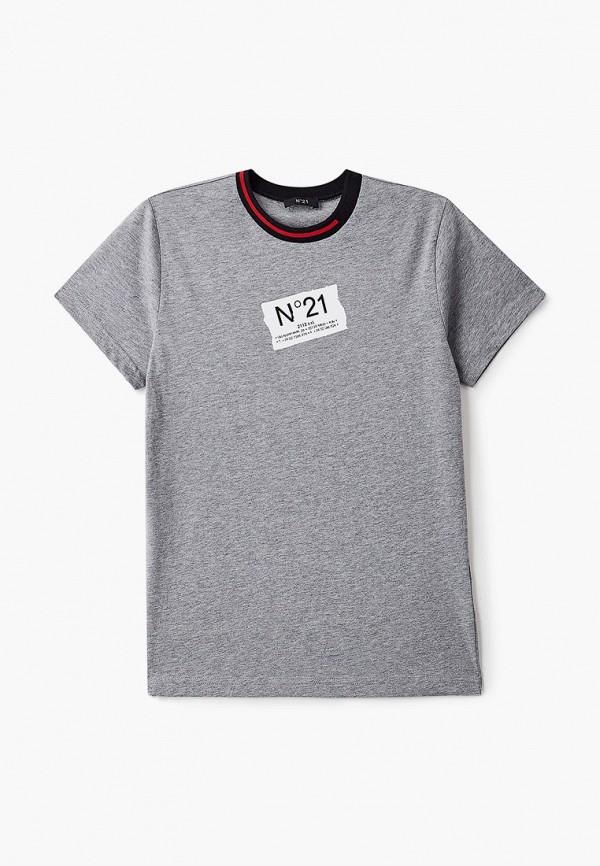 футболка с коротким рукавом n21 для мальчика, серая