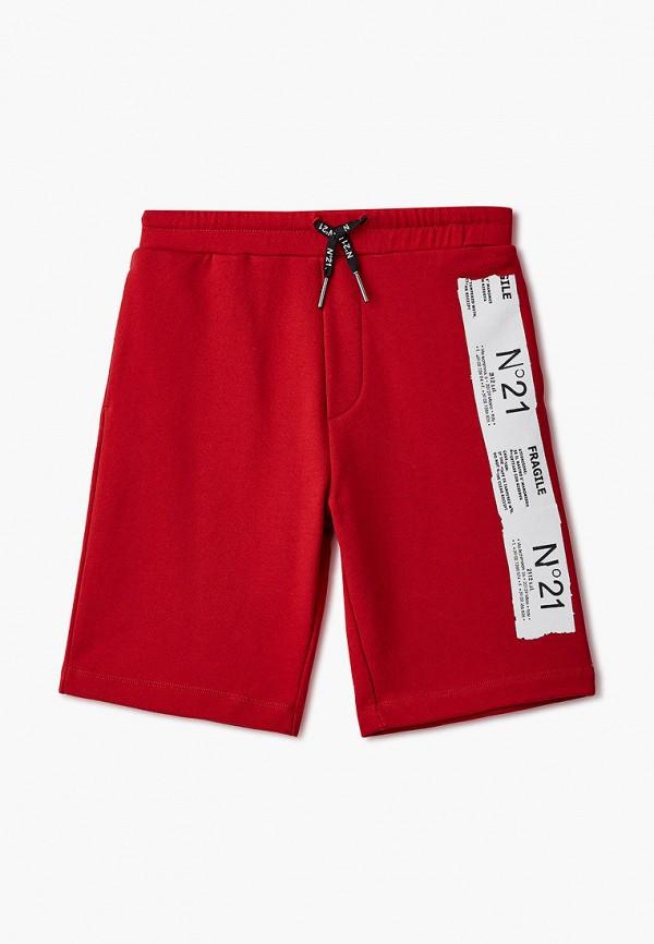 спортивные шорты n21 для мальчика, красные