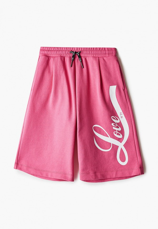 спортивные шорты n21 для девочки, розовые