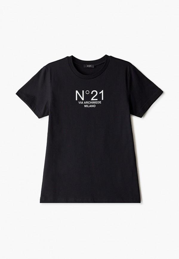 футболка с коротким рукавом n21 малыши, черная