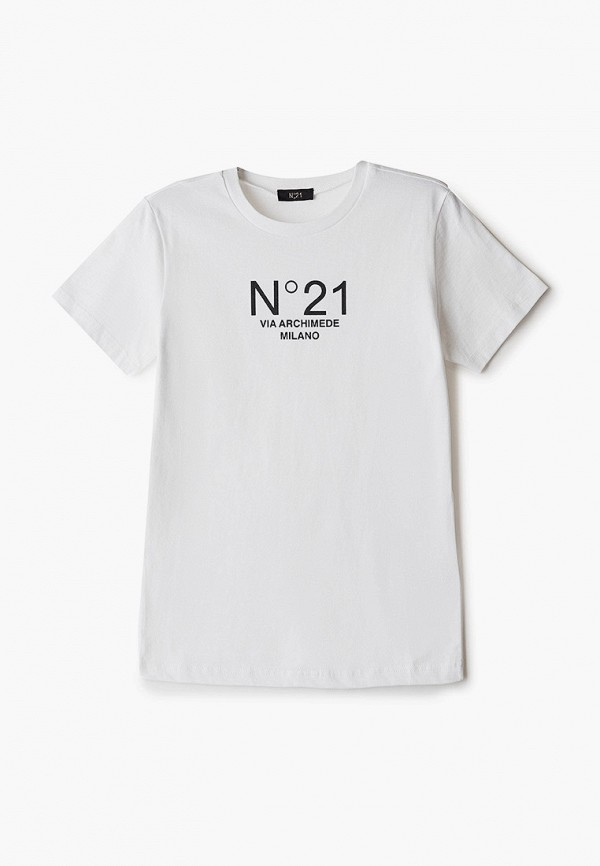 футболка с коротким рукавом n21 малыши, белая