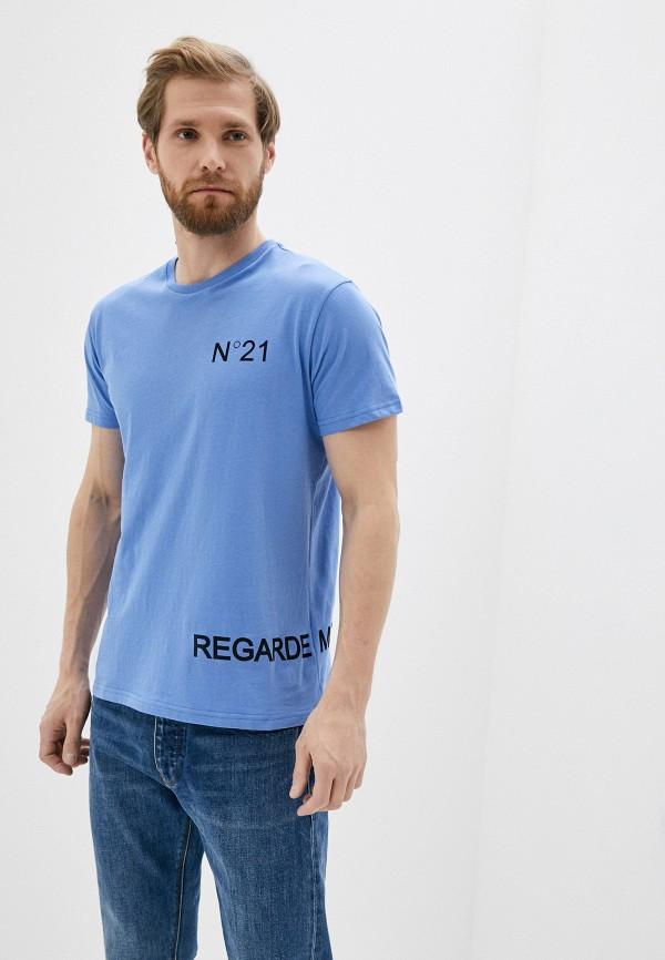 мужская футболка n21, голубая