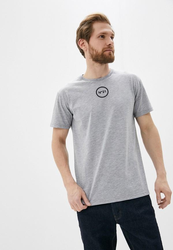 мужская футболка n21, серая