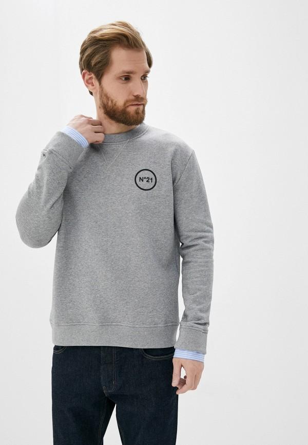 мужской свитшот n21, серый