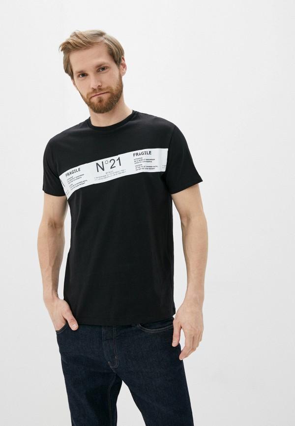 мужская футболка n21, черная