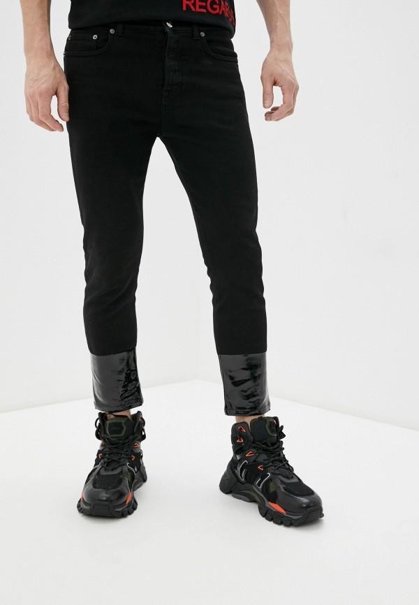 мужские зауженные джинсы n21, черные