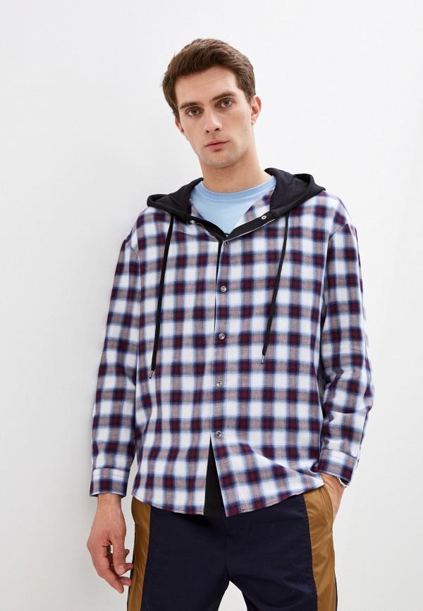 мужская рубашка с длинным рукавом n21, серая