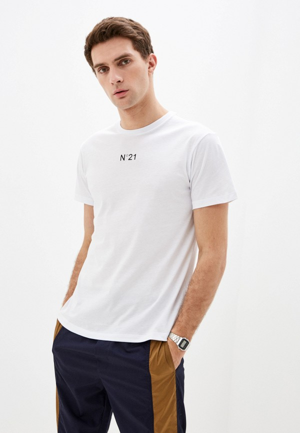 мужская футболка n21, белая