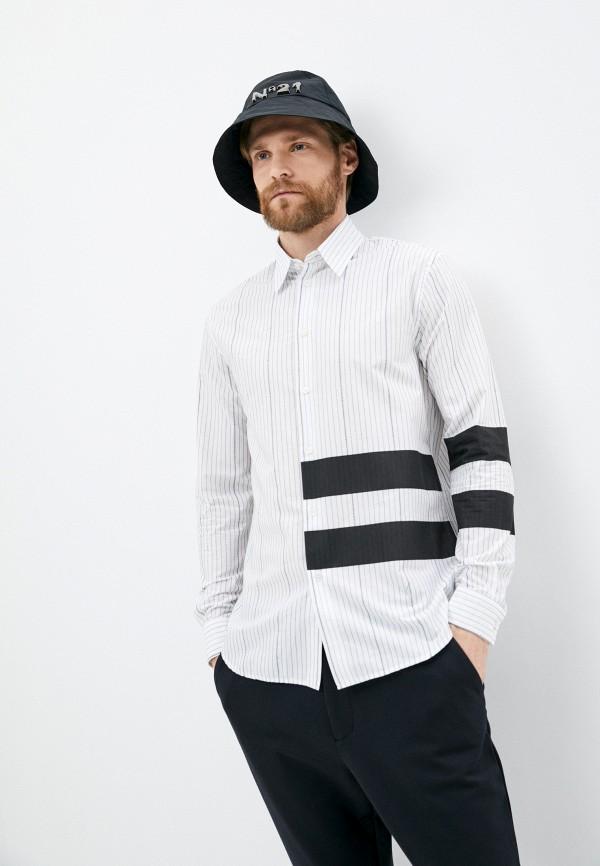 мужская рубашка с длинным рукавом n21, белая