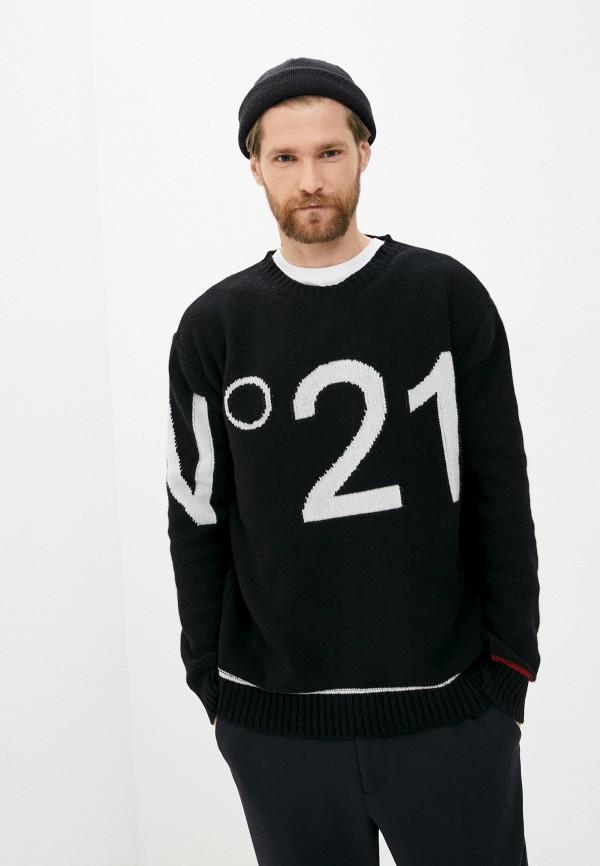 мужской джемпер n21, черный
