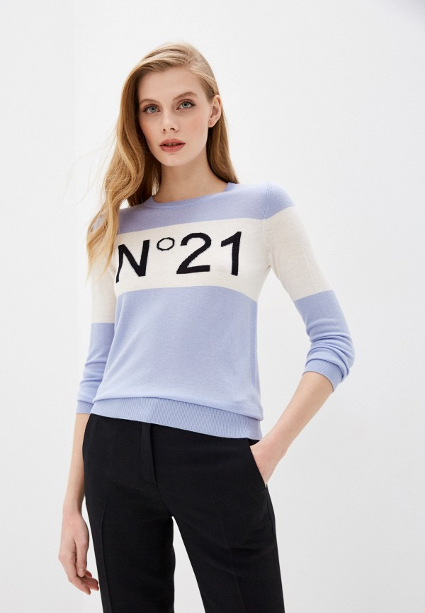 женский джемпер n21, голубой